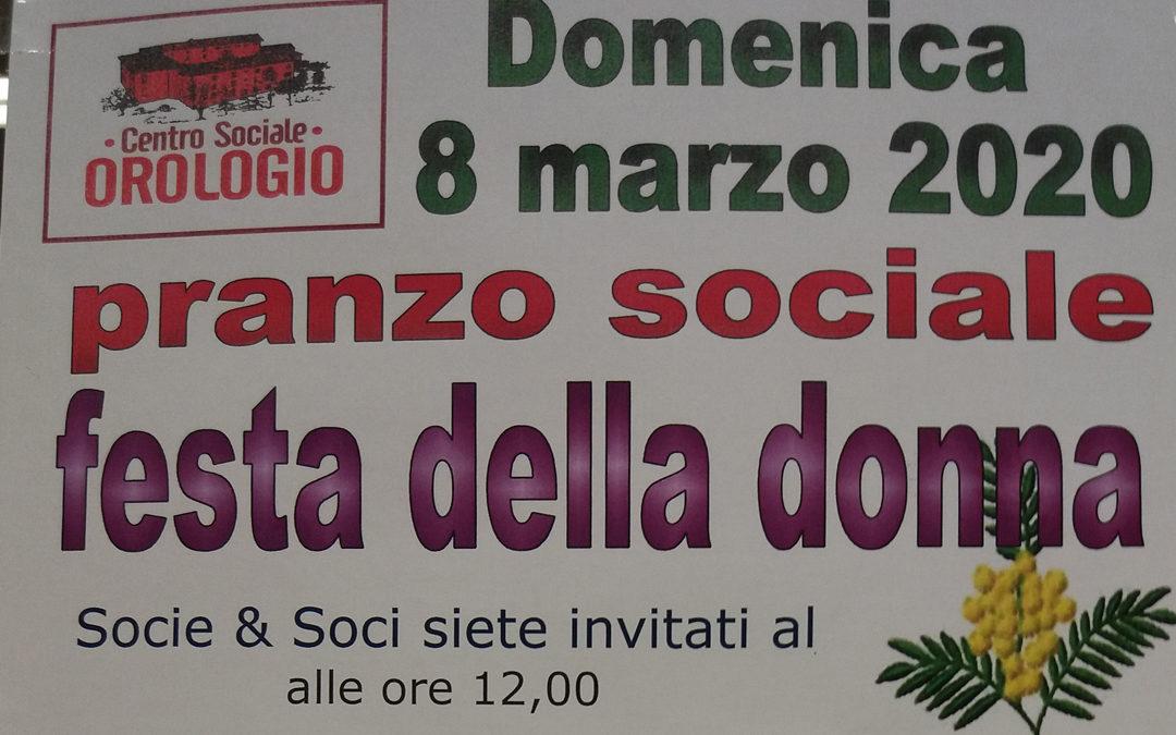 """Pranzo Sociale """"Festa della Donna"""""""