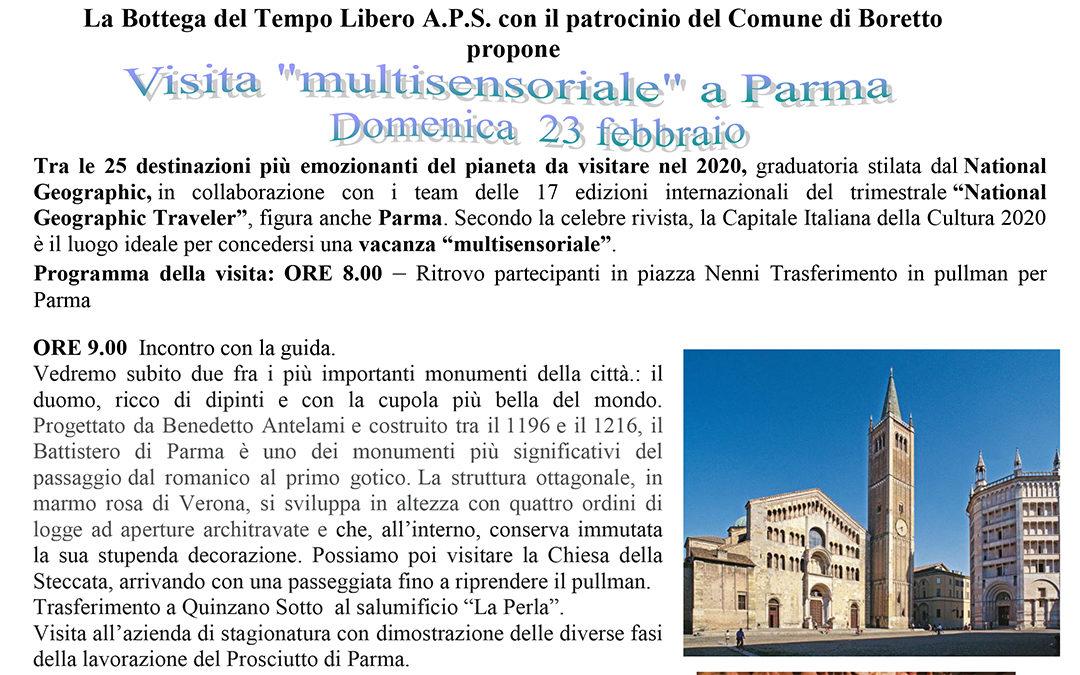 """Gita """"Multisensoriale"""" a Parma"""