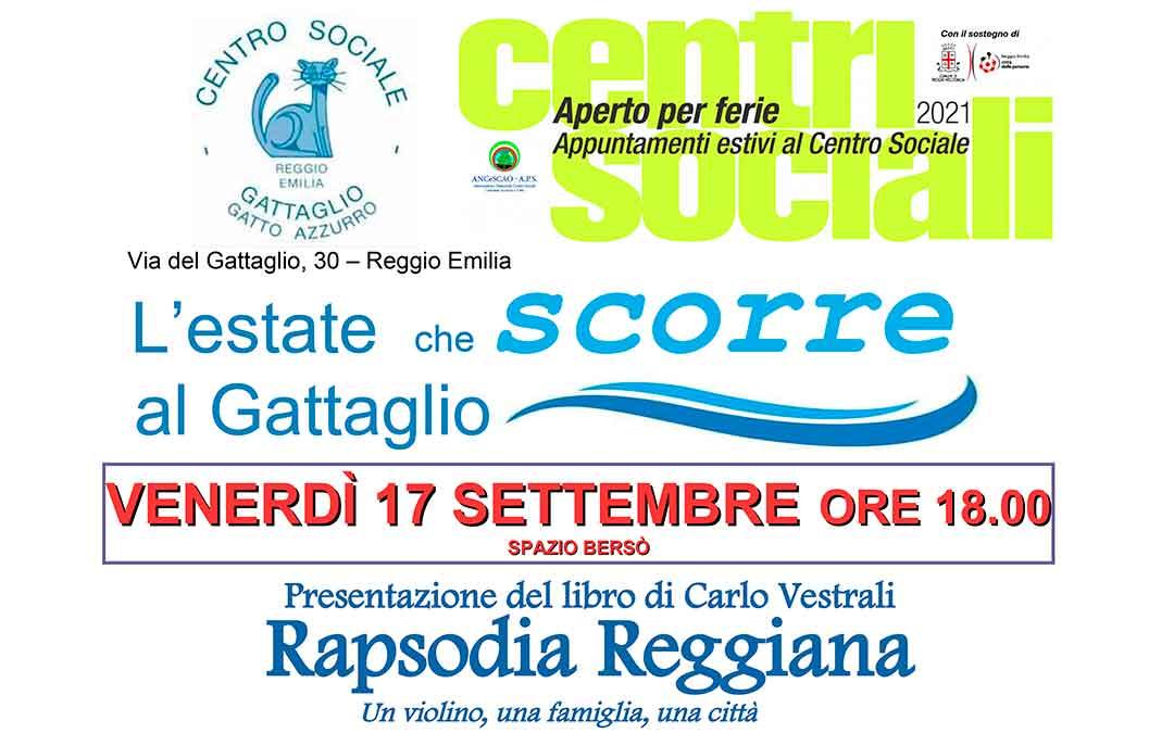 C.S. Gattaglio: Presentazione del libro di Carlo Vestrali